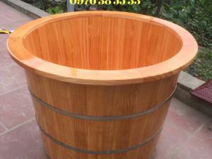 Bồn tắm tròn gỗ thông nhập khẩu