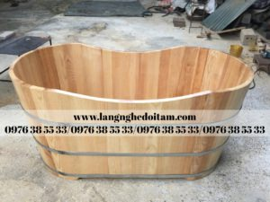 bán bồn tắm gỗ sồi cao cấp
