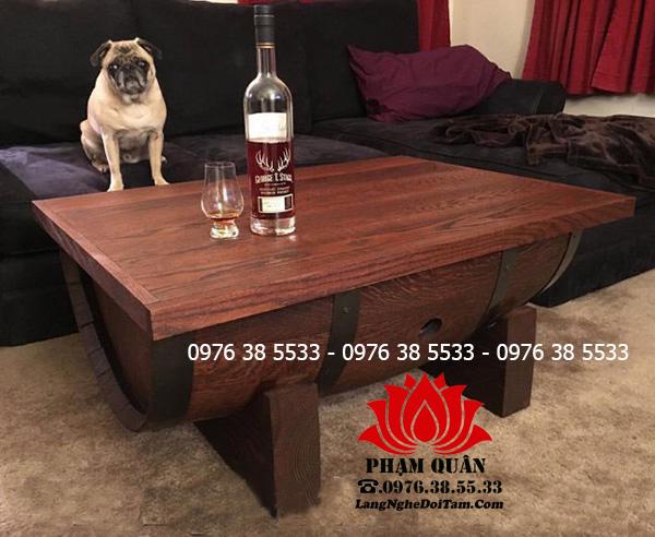 Bán bàn gỗ trang trí chất liệu gỗ thông, gỗ sồi