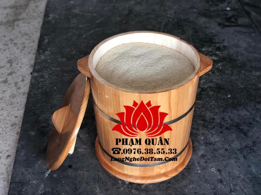 Bán thùng đựng gạo bằng gỗ
