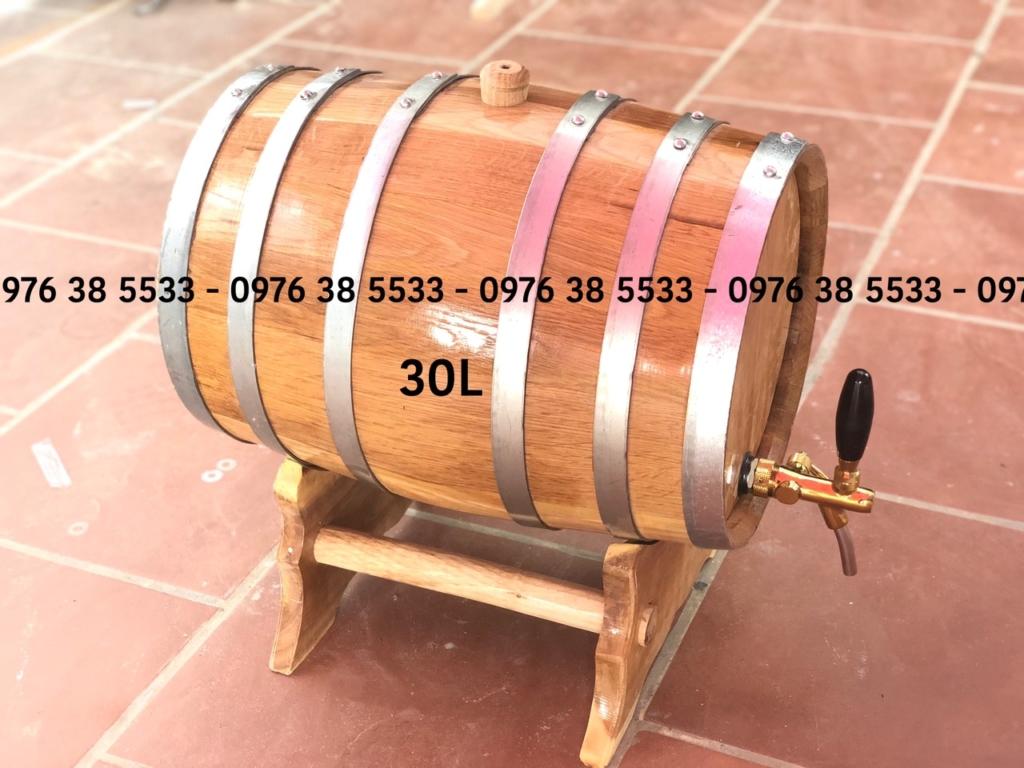 Bán Thùng rượu gỗ sồi 30L