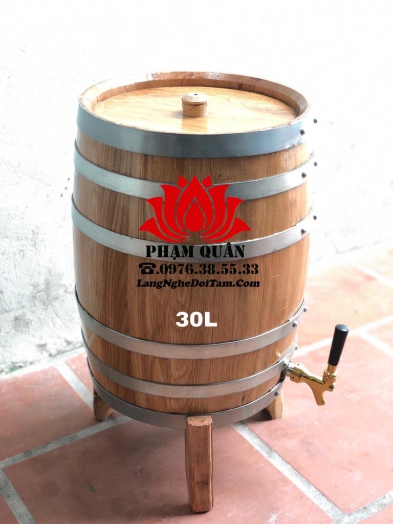 Bán thùng ngâm rượu gỗ sồi dáng đứng
