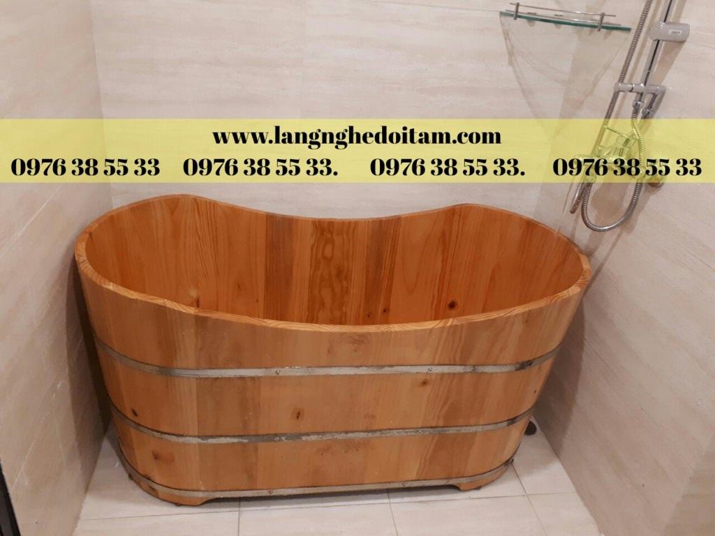 bán bồn tắm gỗ dáng dài kiểu nhật