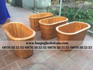 bán bồn tắm gỗ thông đẹp