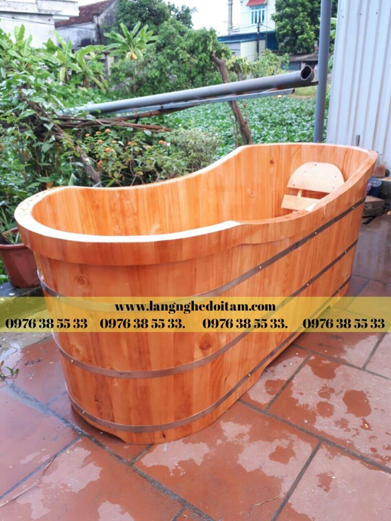 bồn tắm gỗ thông cao cấp