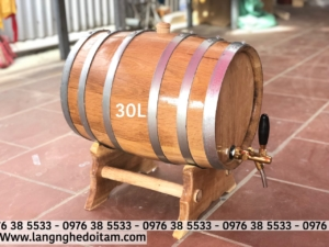 Thùng đựng rượu gỗ sồi 30L