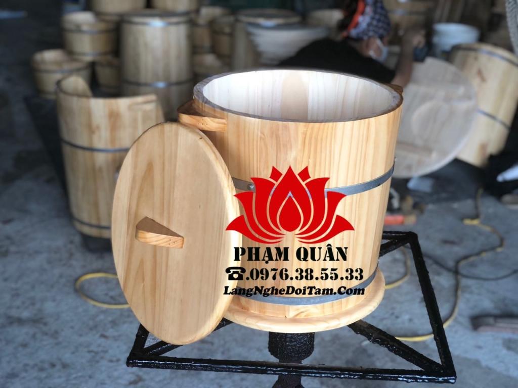 Thùng gỗ đựng gạo được sx từ gỗ thông nhập khẩu, bh đỏi mới trong 12 tháng