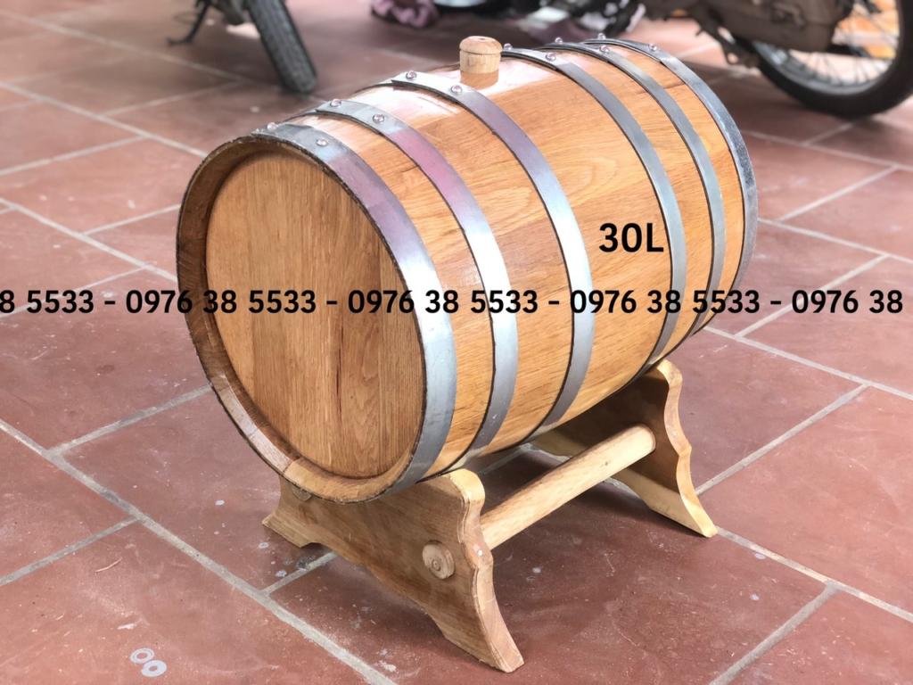 Bán Thùng gỗ sồi ngâm rượu 30L giao hàng toàn quốc
