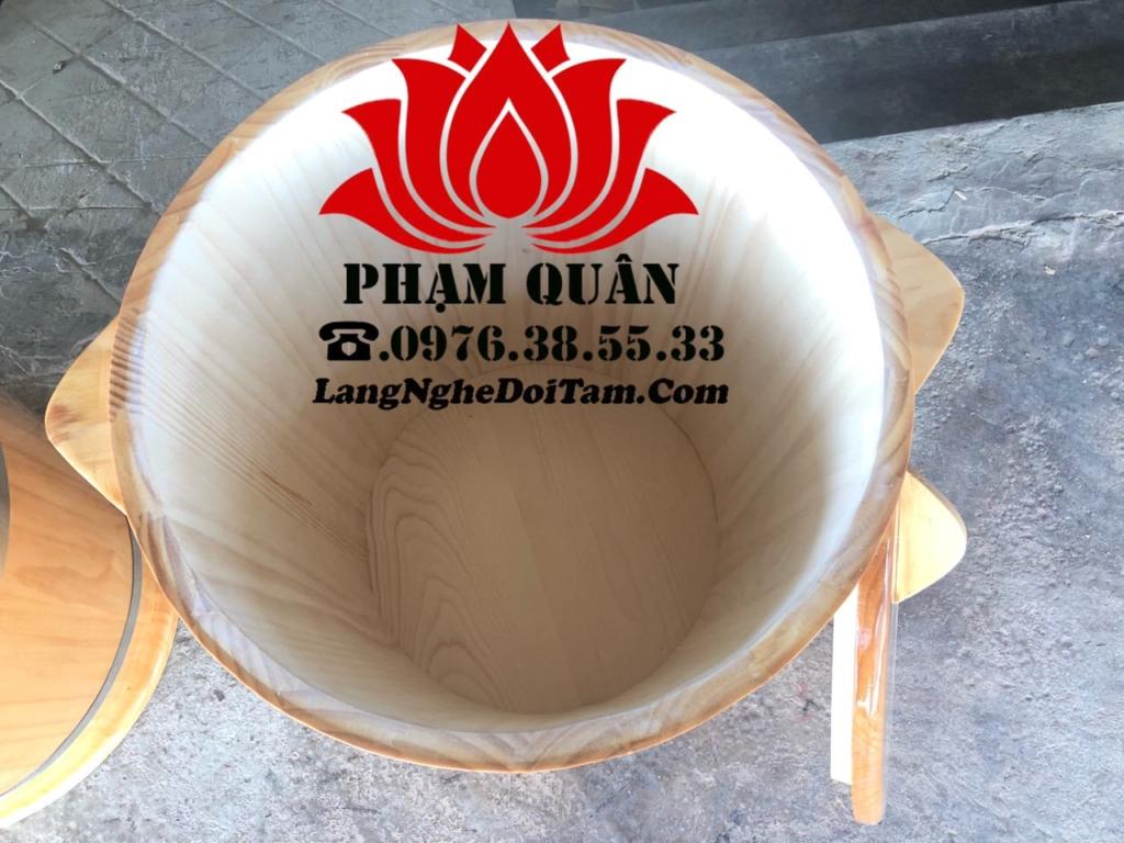 Bên trông đơn vị để mộc hoàn toàn tự nhiên của gỗ,đảm bảo quý khách đựng gạo hoàn toàn ko độc hại