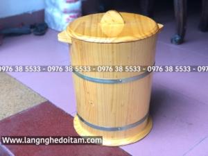 Thùng đựng gạo bằng gỗ thông nhập