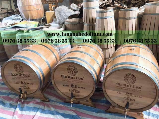Thùng gỗ ngâm ủ rượu ko keo ko hóa chất,chất lượng cao