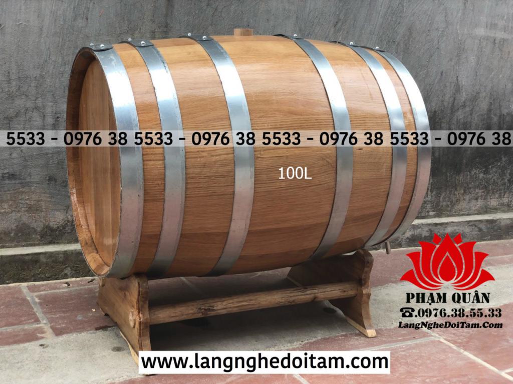 Bán thùng gỗ sồi 100L