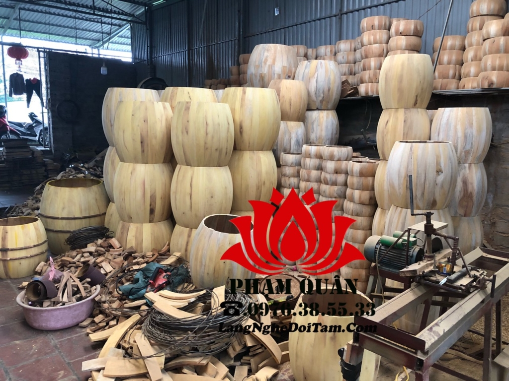 Xưởng sx trống gỗ Phạm Quân