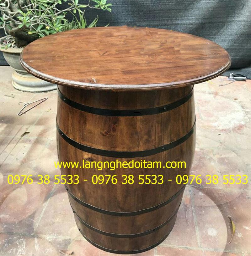 Thùng gỗ trang trí mặt bàn 80cm * cao 90cm