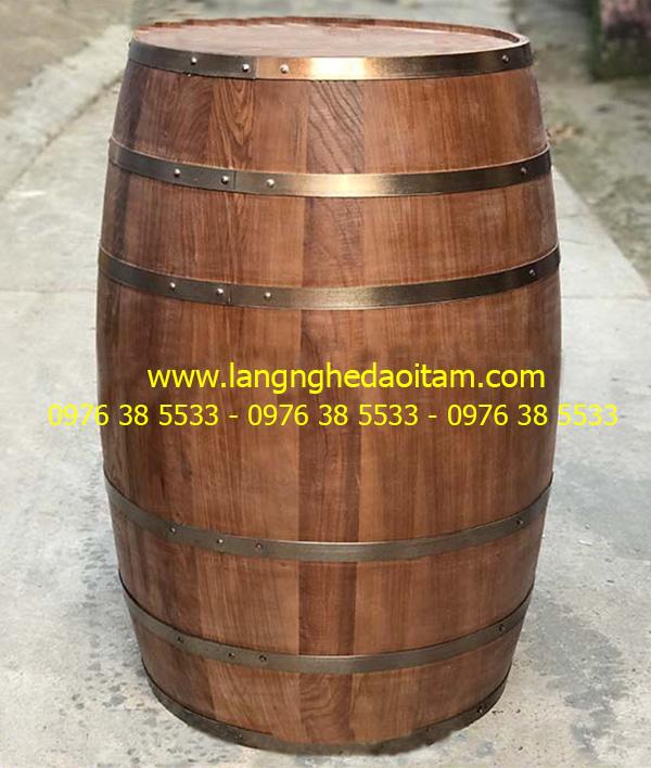 Bán bom rượu gỗ làm trang trí nhà hàng