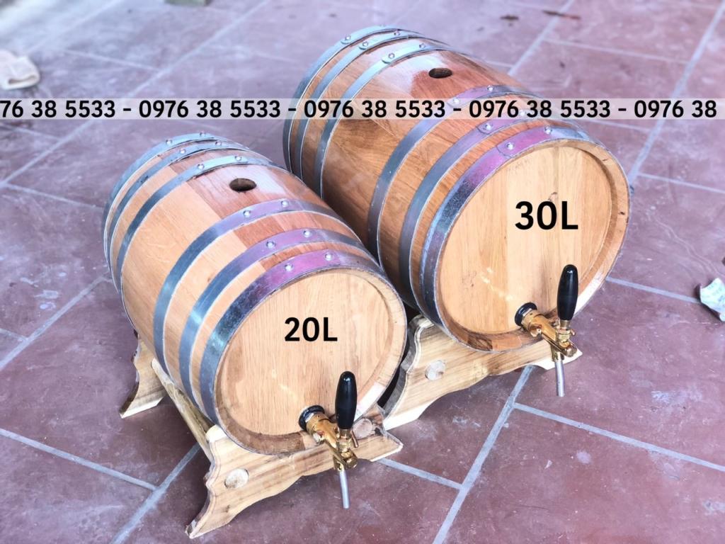 Bán thùng rượu gố sồi 20L 30L giá tại xưởng