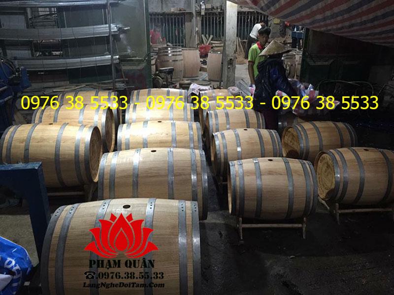 Hình ảnh thực tế tại xưởng sx Thùng rượu Phạm Quân