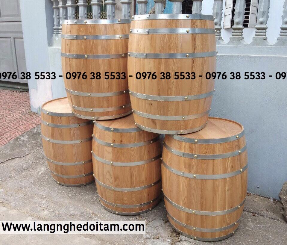 Bán thùng gỗ trang trí chất liệu gỗ sồi bảo hành 12 tháng
