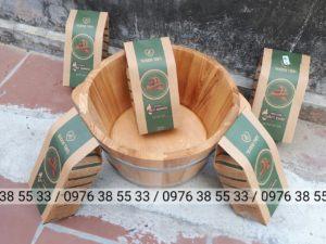 Bán chậu gỗ sồi ngâm chân