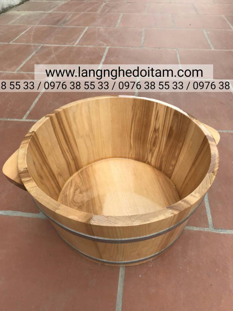 Bán chậu gỗ sồi ngâm chân ở hà nội
