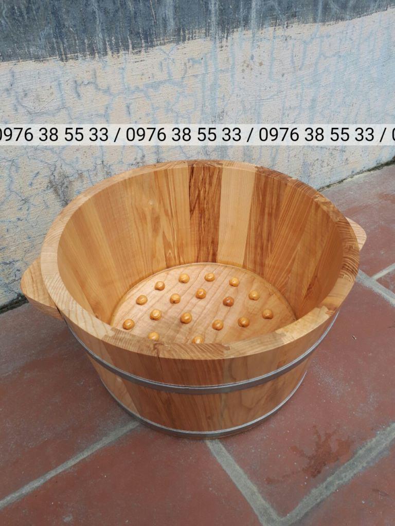 Bán chậu ngâm chân bằng gỗ sồi ở đâu tại Hà Nội