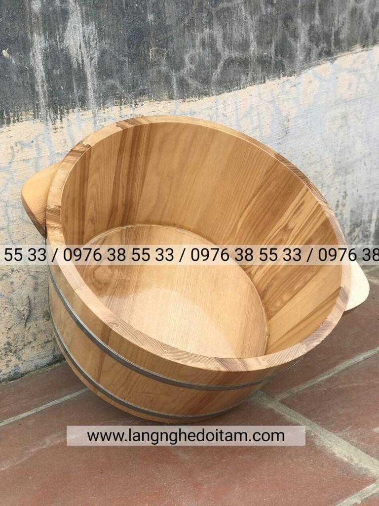 Bán thùng ngâm chân gỗ sồi cao cấp tại Hà Nội