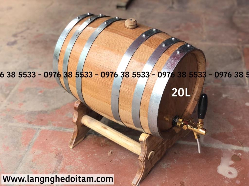 Bán thùng rượu gỗ sồi 20L