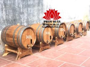 Bán lô thùng ngâm rượu 20l và 30l, kèm theo vòi crom cao cấp