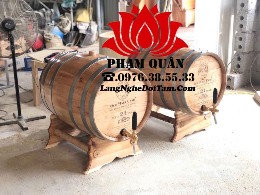 Thùng ngâm rượu gỗ sồi 20L