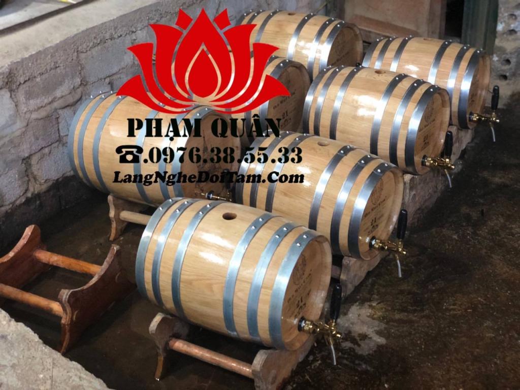 Thùng gỗ sồi 20l ủ rượu