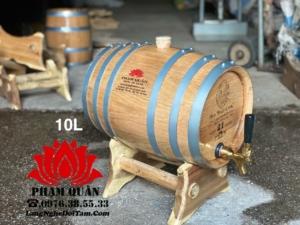 Thùng gỗ sồi 10l