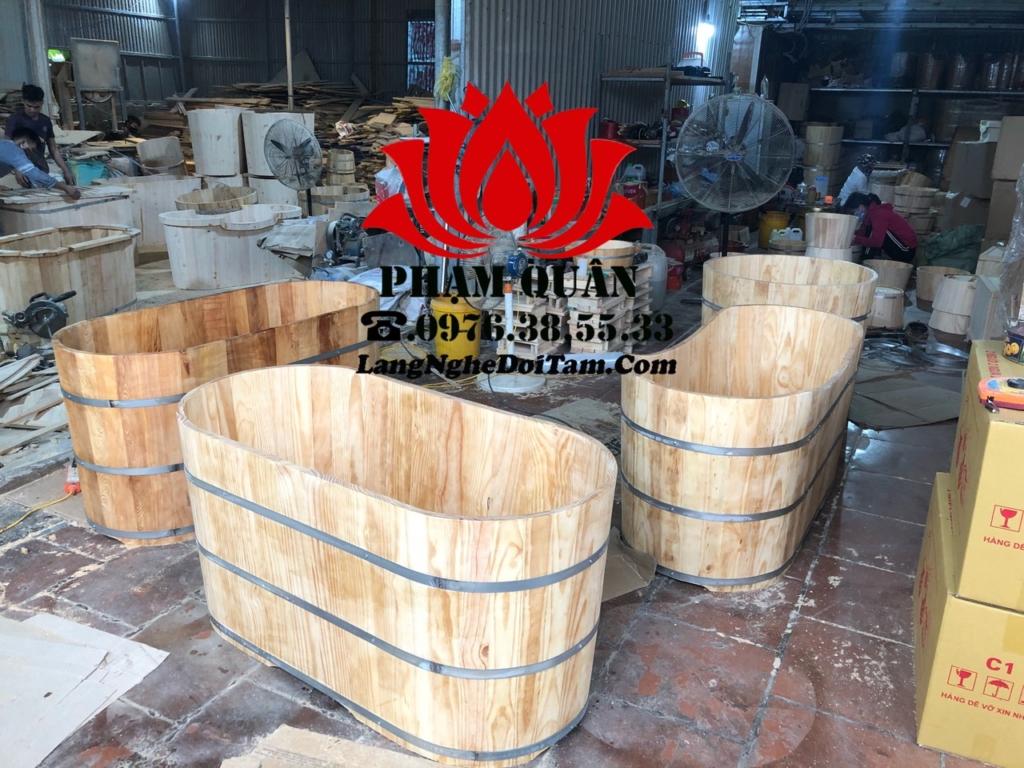 Xưởng sx bồn tắm gỗ pham quân