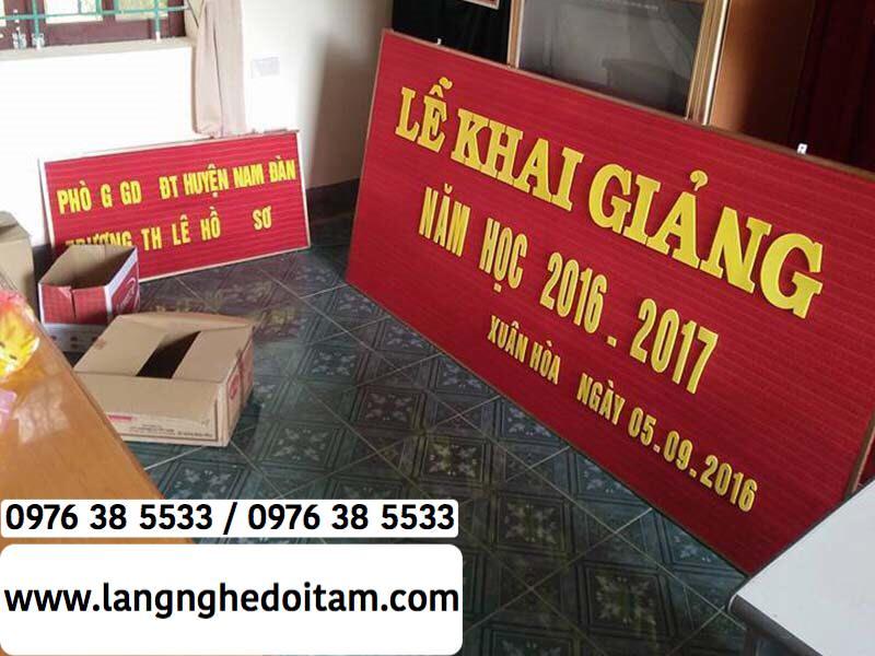 Chuyên bán bộ chữ xốp cho trường học ở Hà Nội