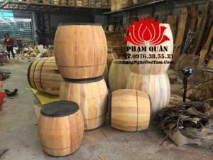 Trống gỗ lõi mit đang hoàn thiện