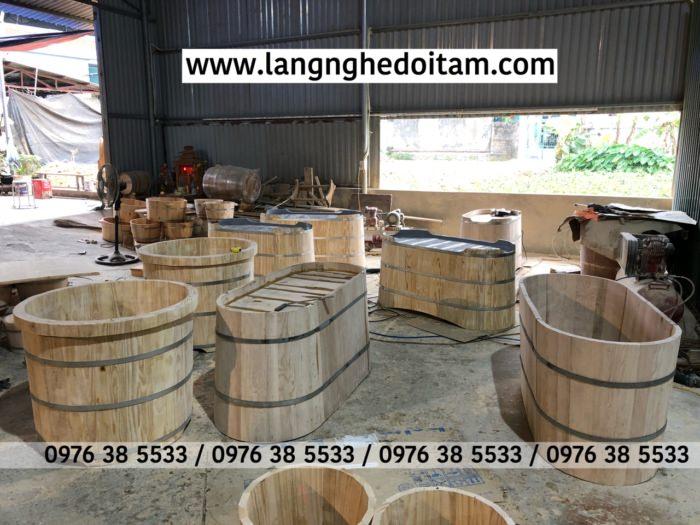 Xưởng sx bồn tắm gỗ sồi nhập khẩu Nga Mỹ