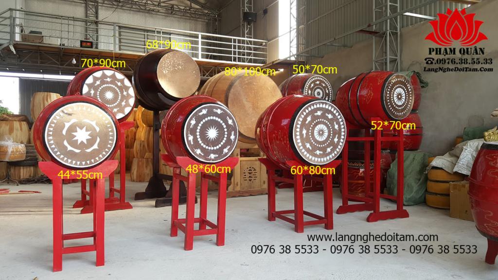 Xưởng sx các loại trống với nhiều kích thước khác nhau, quý khách hàng thoải mãi lựa chọn