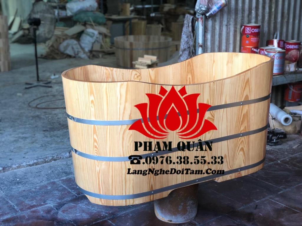 Bồn tắm gỗ được ghép mộng âm dương cam kết quá trình quý khách sử dụng gỗ ko bị co gót hay rò rỉ