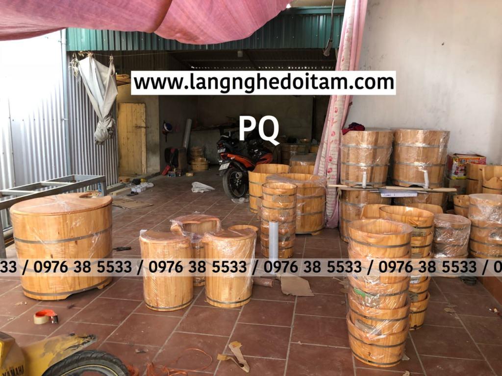 Xưởng sx chậu gỗ ngâm chân tại cơ sở Làng Nghề Đọi Tam