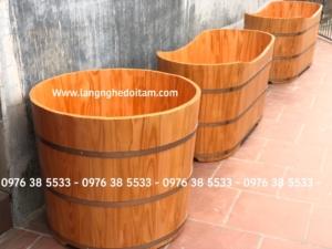 Bán bồn tắm gỗ dáng đứng gỗ thông cao cấp
