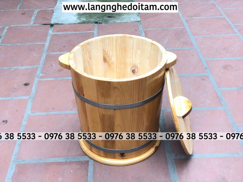 Bán thùng đựng gạo bằng gỗ thông