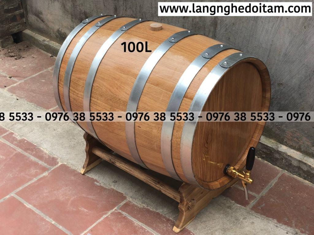 Bán thùng ruouj gỗ sồi nhập khẩu tại Hà Nội