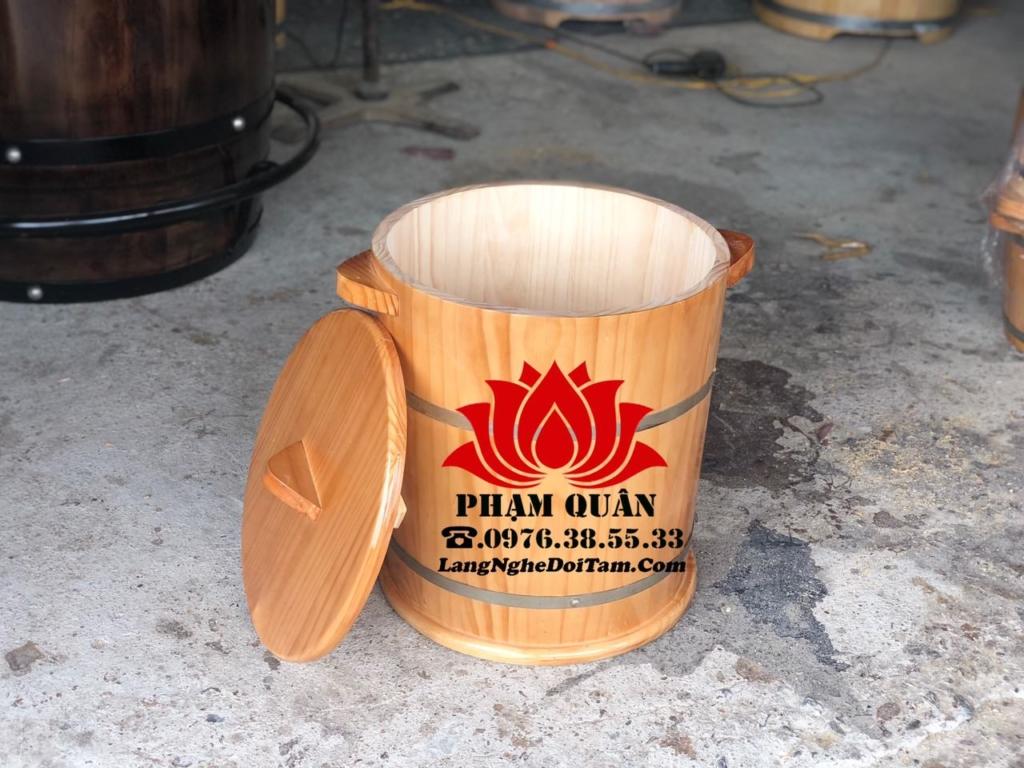 Thùng gạo bằng gỗ thông