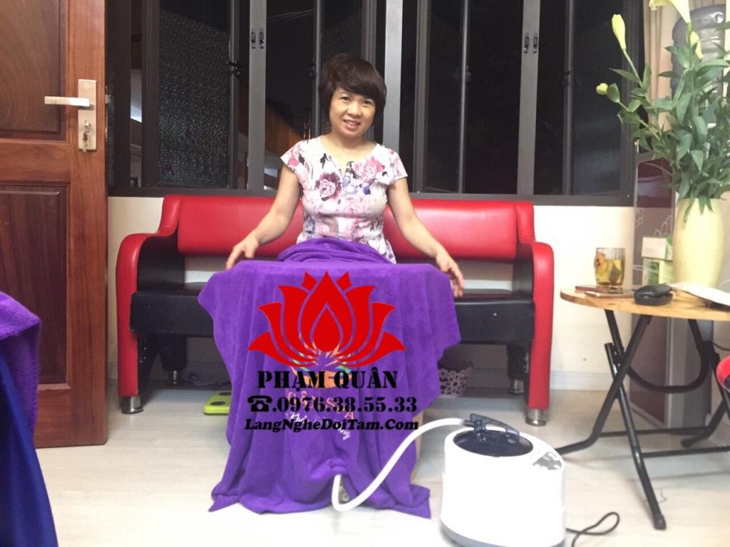 Khách mua thùng xông chân, thợ e đi nắp đặt tại nhà khách ở Thanh Xuân Hà Nội
