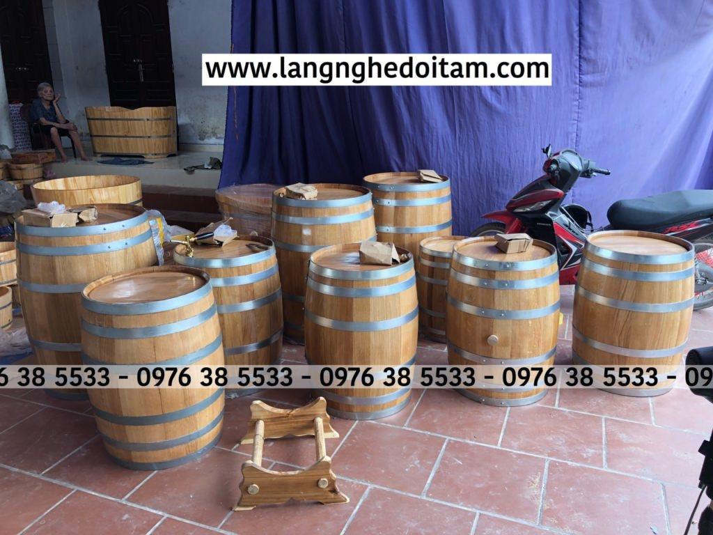 Đơn vị em chuyên bán thùng rượu gỗ sồi nhập khẩu bảo hành 12 tháng