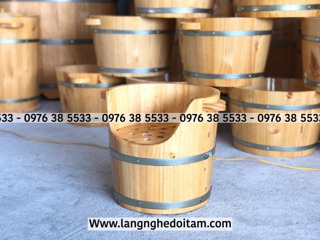 Thùng gỗ xông đầu dưỡng sinh được cơ sở bảo hành đổi mới trong 12 tháng
