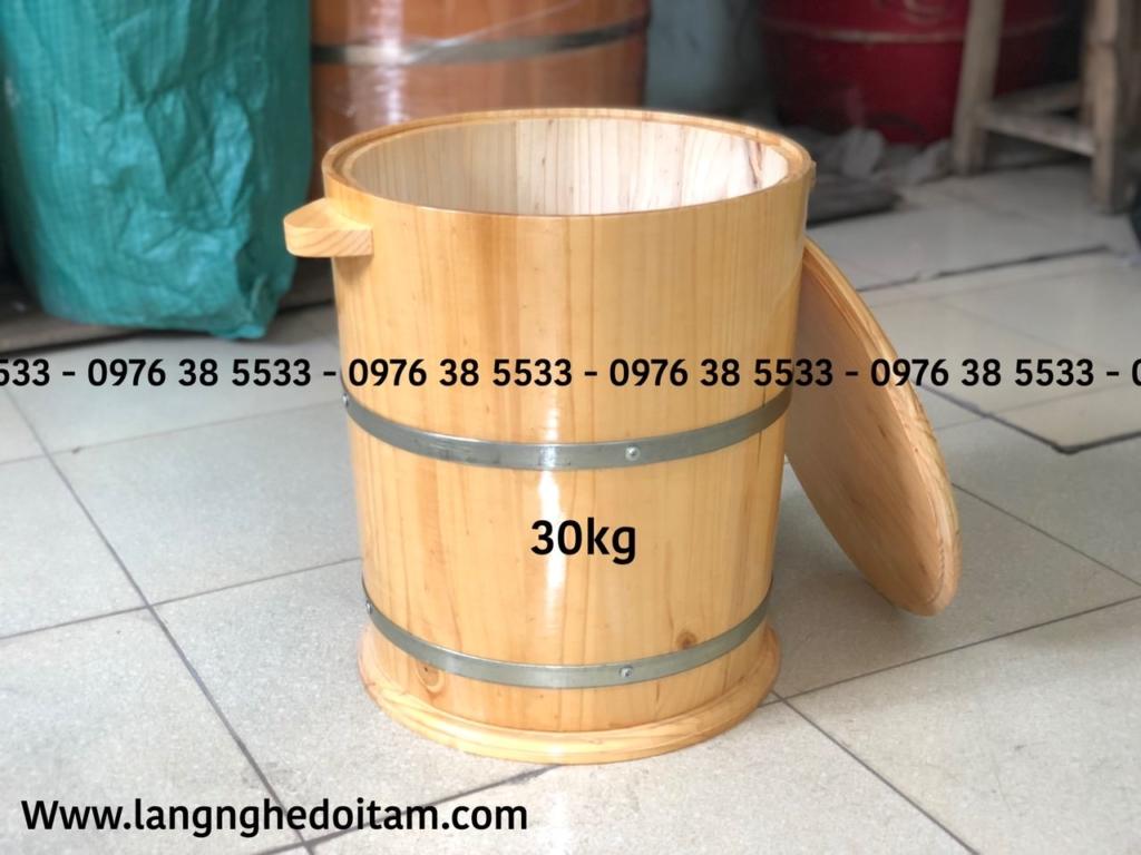 Bán thùng gỗ đựng gạo 30kg bảo hành lên đến 24 tháng