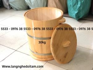 Thùng đựng gạo bằng gỗ 30kg