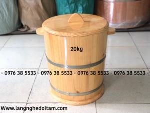Thùng gỗ đựng gạo 20kg