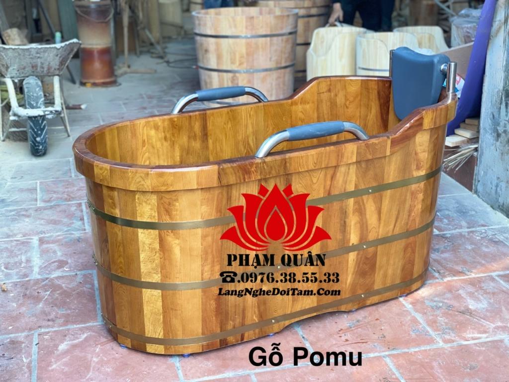 Bồn tắm gỗ pomu