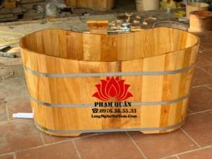 Bồn tắm gỗ pomu Việt, ĐK miệng dài 130cm * cao 65cm * rộng 60cm